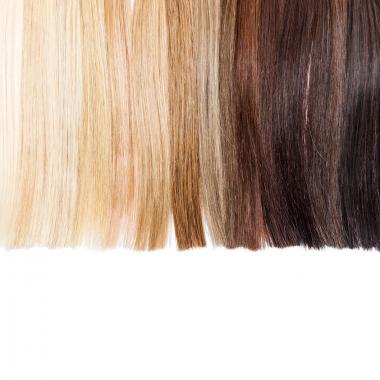 Kaukasische Haare (glatte Sruktur)